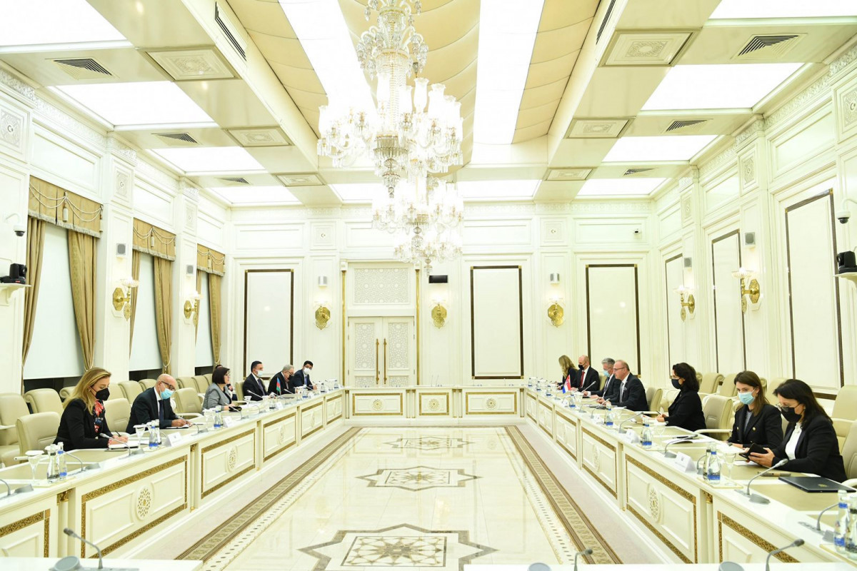 Chair of Milli Majlis meets Foreign and European Affairs Minister of Croatia