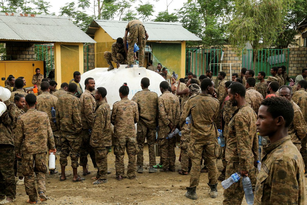 Air strike hits capital of Ethiopia