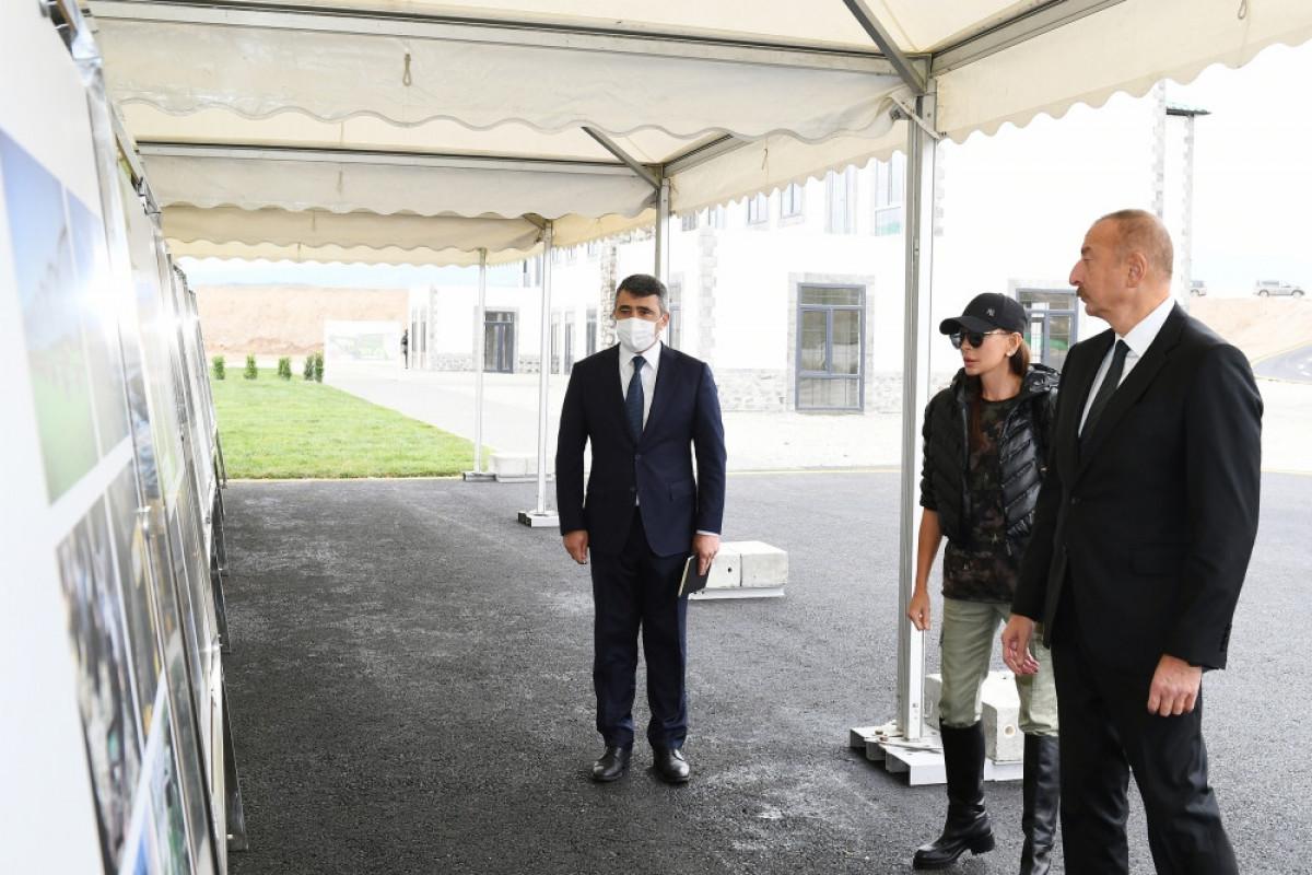 "President Ilham Aliyev and Mehriban Aliyeva viewed works done under ""smart village"" project implemented in Zangilan"