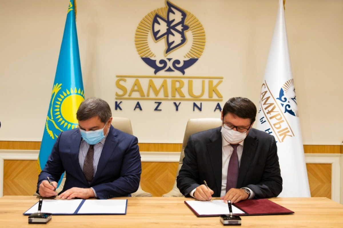 """Memorandum was signed between investment holdings of Azerbaijan and Kazakhstan-<span class=""""red_color"""">PHOTO"""