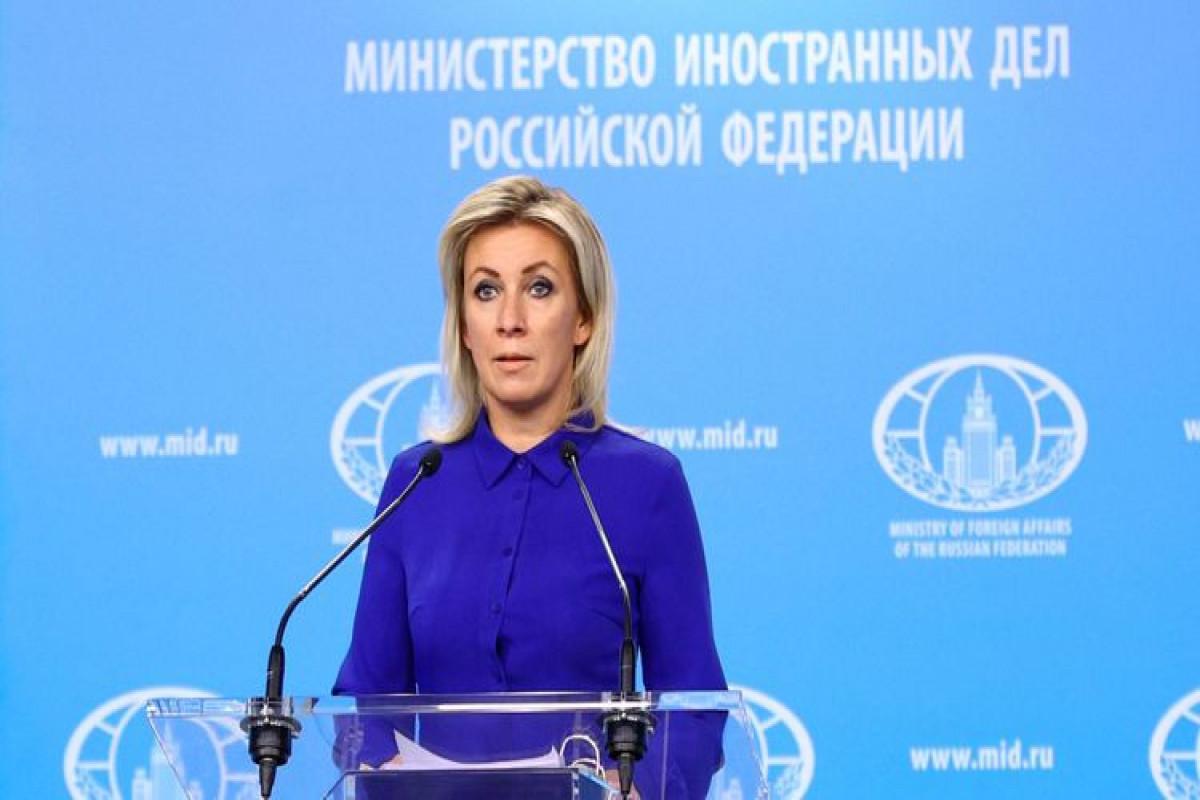 Official representative of Russian MFA Mariya Zakharova