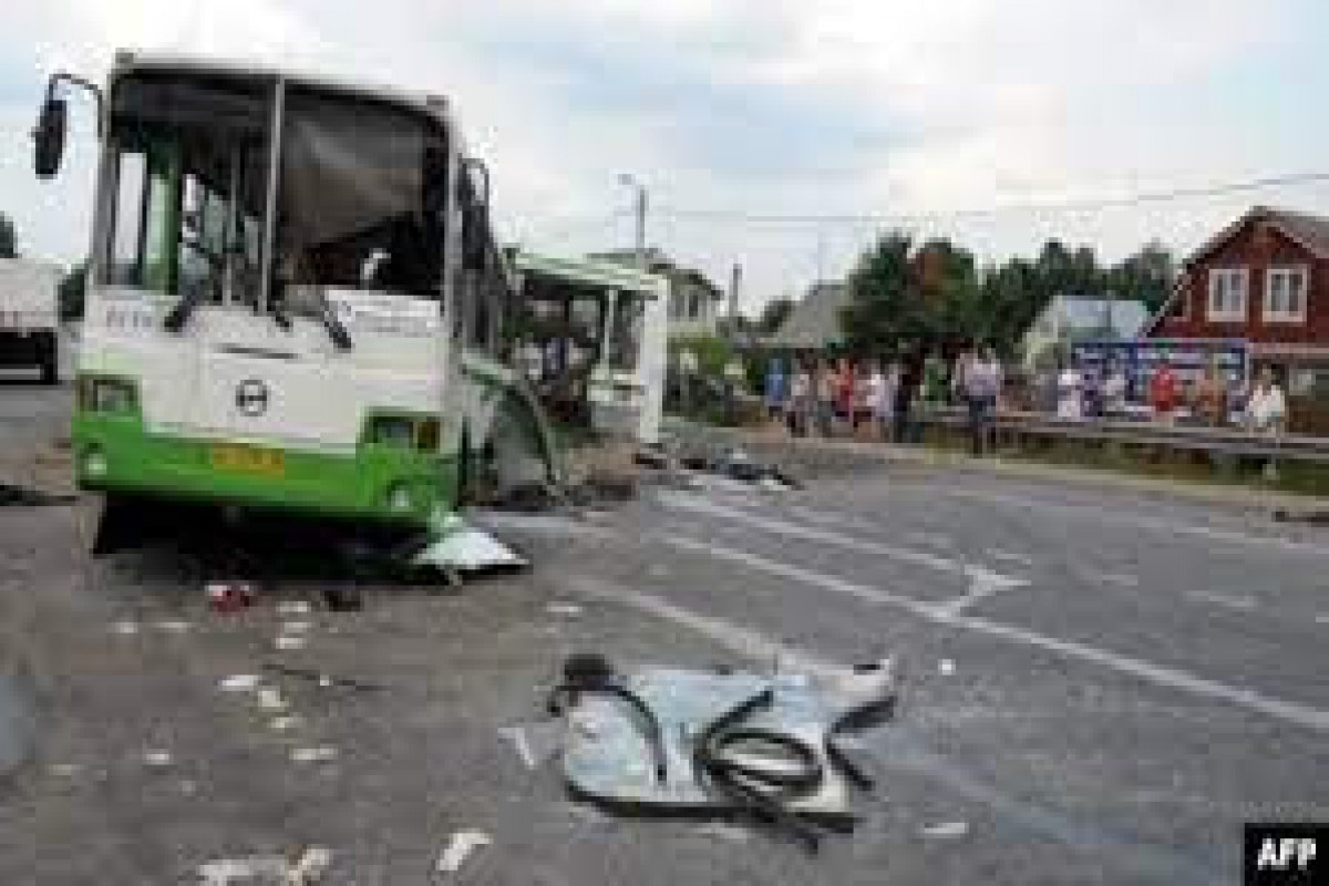 One person died, eight injured in bus crash in Russia's Sverdlovsk
