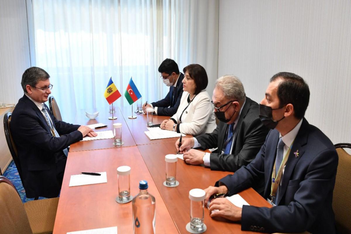 Сахиба Гафарова встретилась с председателем парламента Молдовы
