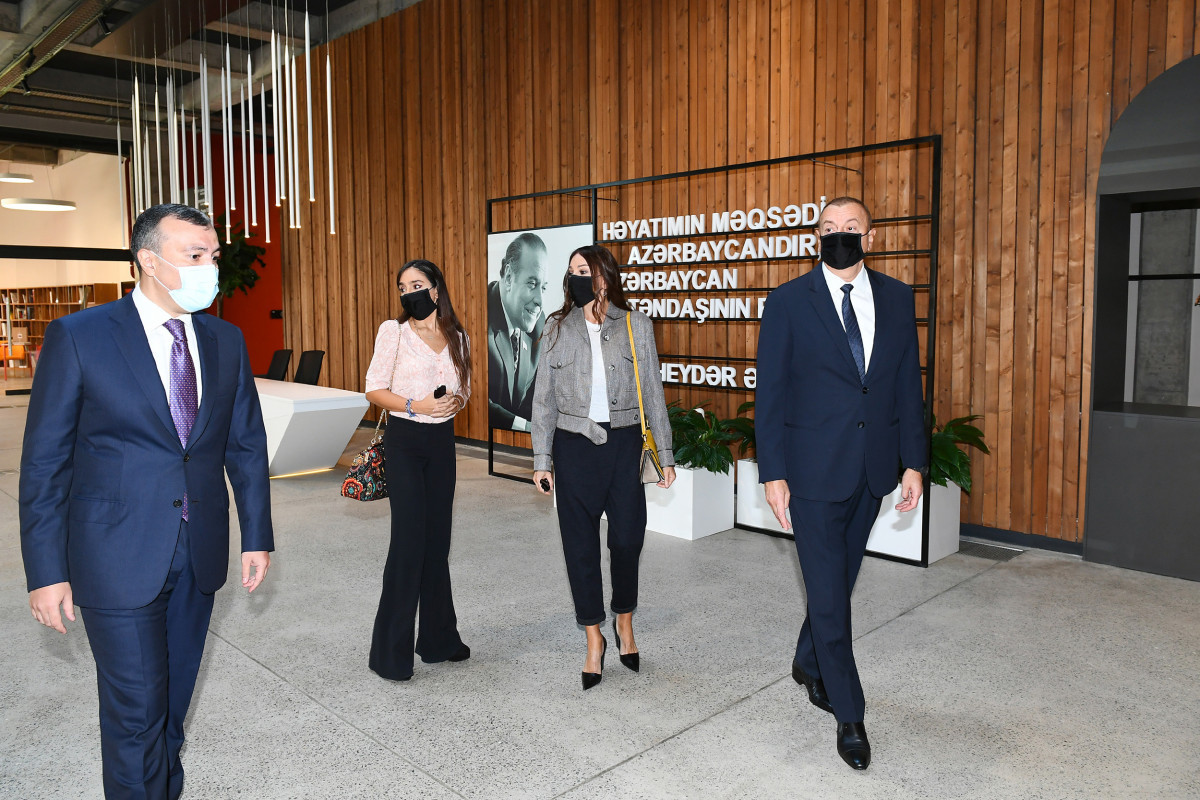 President of the Republic of Azerbaijan Ilham Aliyev, First Lady Mehriban Aliyeva, and their daughter Leyla Aliyeva have attended the inauguration of DOST Center for Inclusive Development and Creativity in Baku