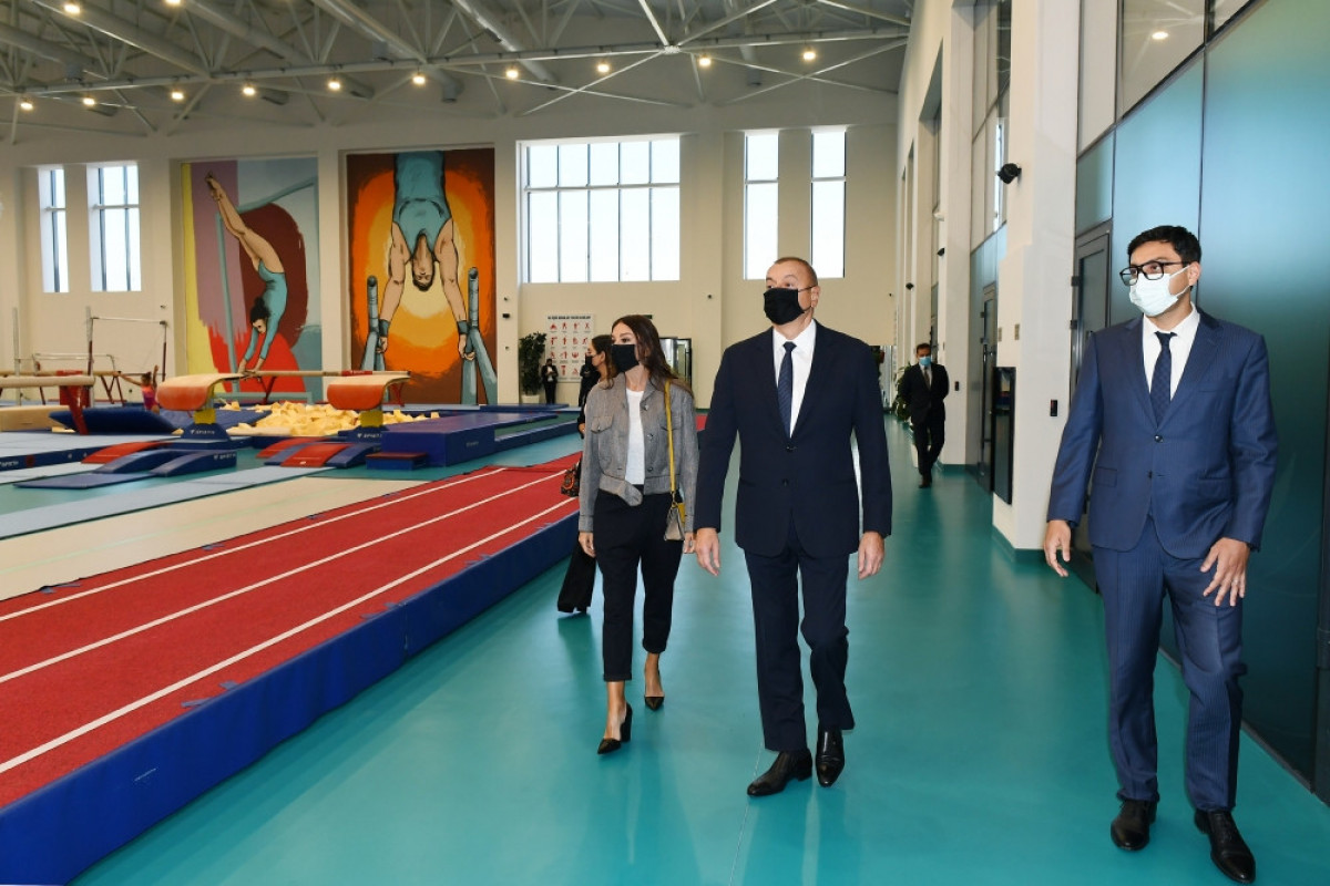 President Ilham Aliyev viewed conditions created at new training center of National Gymnastics Arena