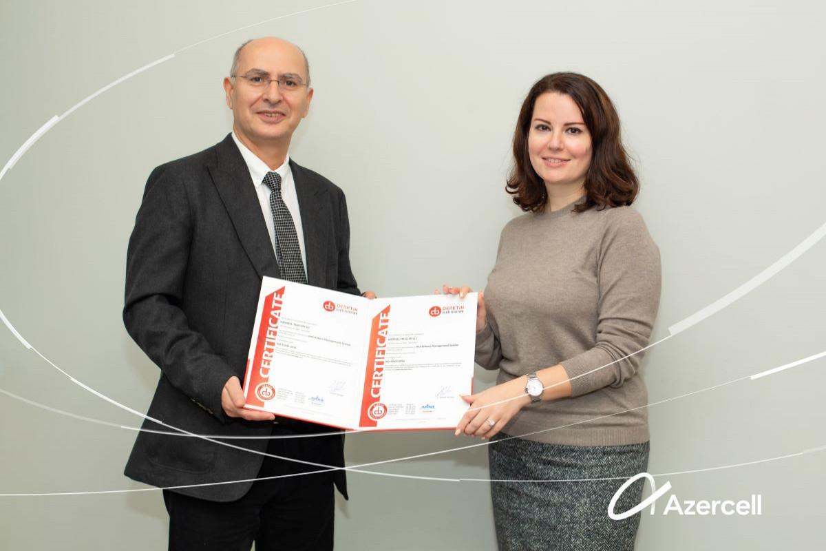 Azercell в очередной раз удостоен сертификата «Системы менеджмента противодействия коррупции»
