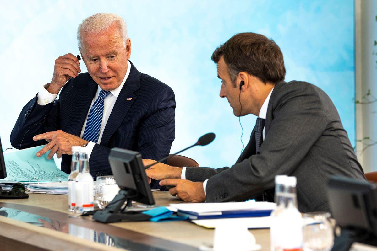 Biden, Macron discuss European defense, will meet in Rome -White House