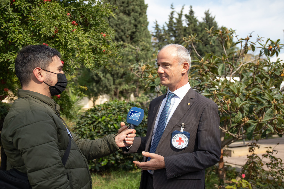 Interview of Vice-President of International Committee of the Red Cross (ICRC) Gilles Carbonnier with APA