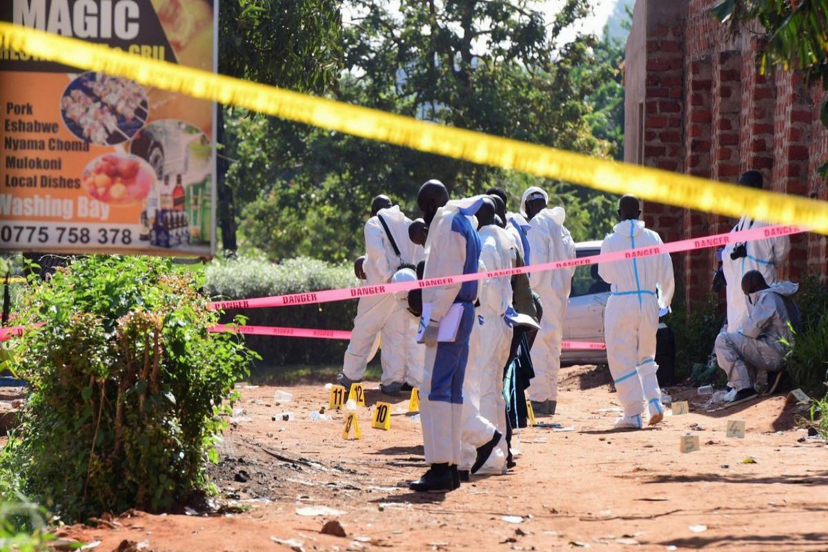 Nail bomb kills one at restaurant in Ugandan capital