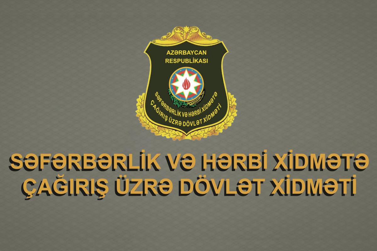 Ehtiyatda olan hərbi vəzifəlilərin bu gündən təlim toplanışlarına çağırılması həyata keçirilir