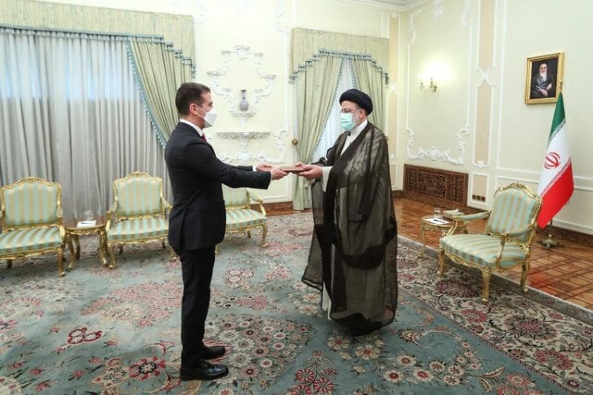 Azerbaijani Ambassador Ali Alizadeh, Iranian President Ebrahim Raisi