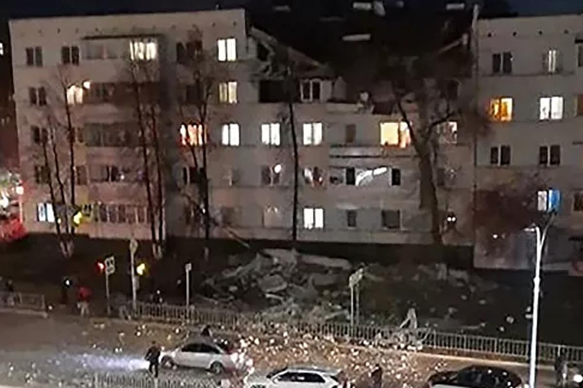 Взрыв в жилом доме в российском городе Набережные Челны
