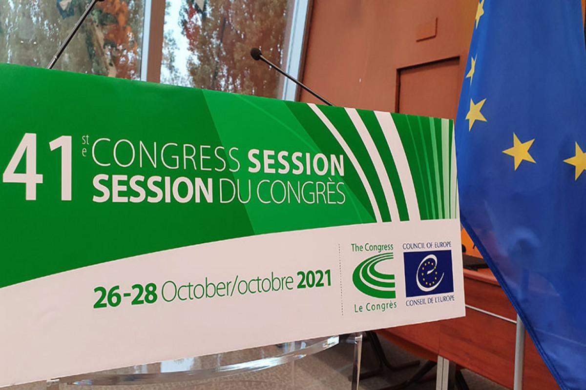 Avropa Şurasının Yerli və Regional Hakimiyyətlər Konqresinin sessiyası başlayıb