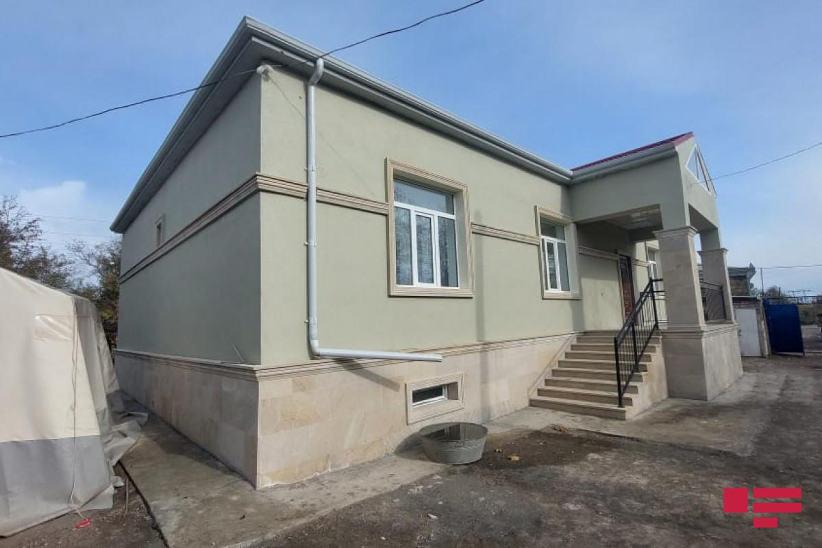 Ermənistanın təcavüzü nəticəsində Goranboyda dağılan 366 tikili bərpa olunub, 4 ev yenidən tikilib