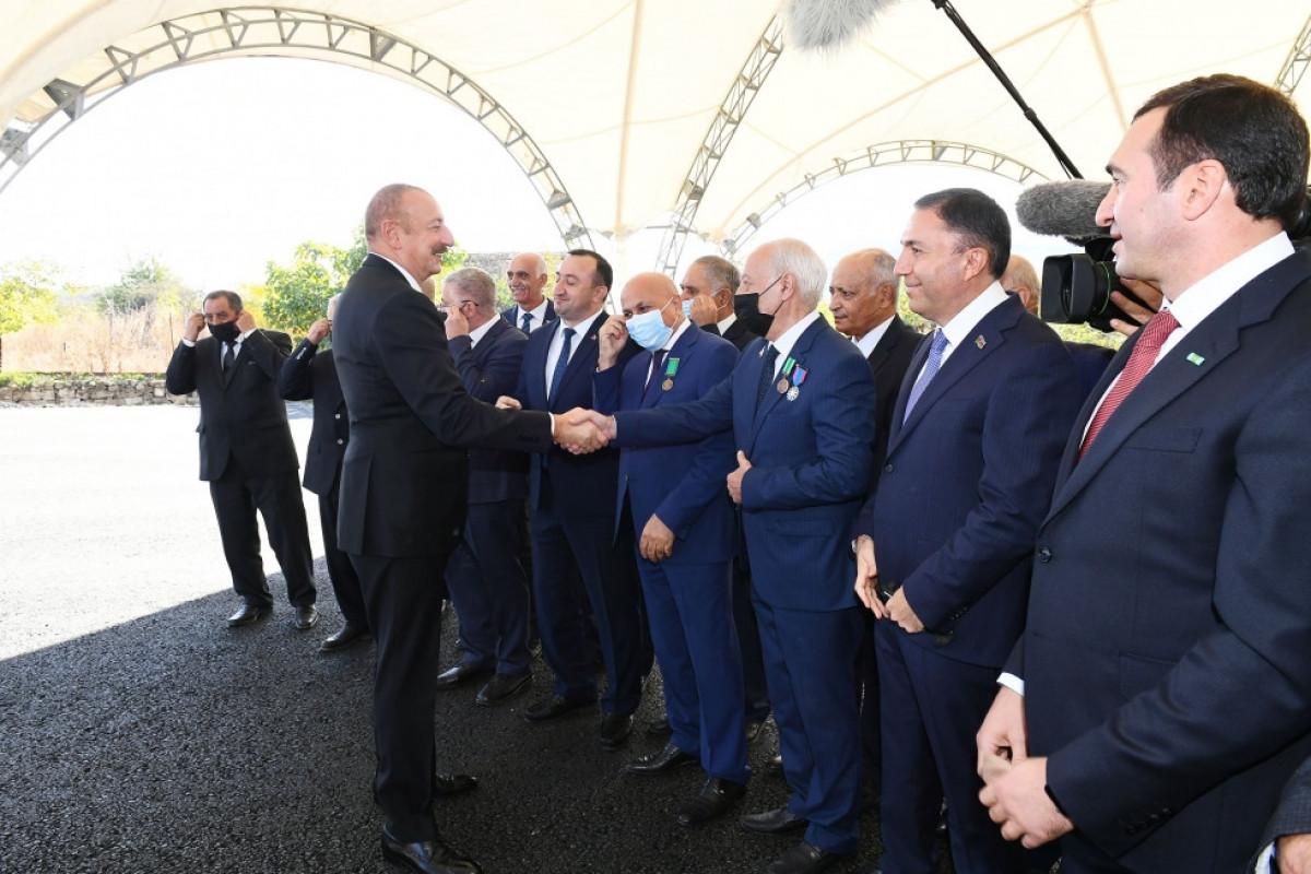 President Ilham Aliyev and First Lady Mehriban Aliyeva met with members of general public of Gubadli district