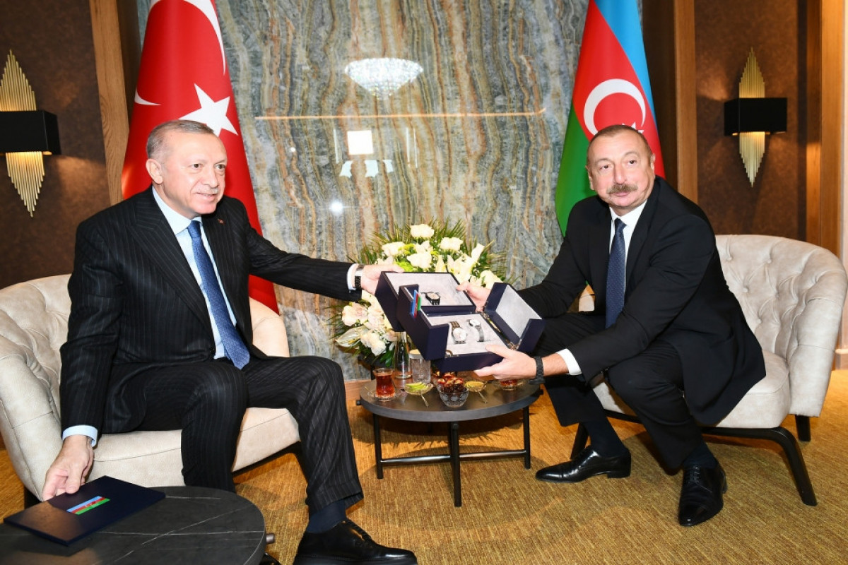 Turkish President Recep Tayyip Erdogan,Azerbaijani President Ilham Aliyev