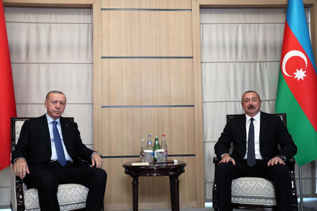 Azerbaijani President Ilham Aliyev and Turkish President Recep Tayyip Erdogan