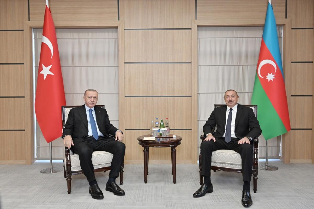 President of the Republic of Azerbaijan Ilham Aliyev and President of the Republic of Turkey Recep Tayyip Erdogan
