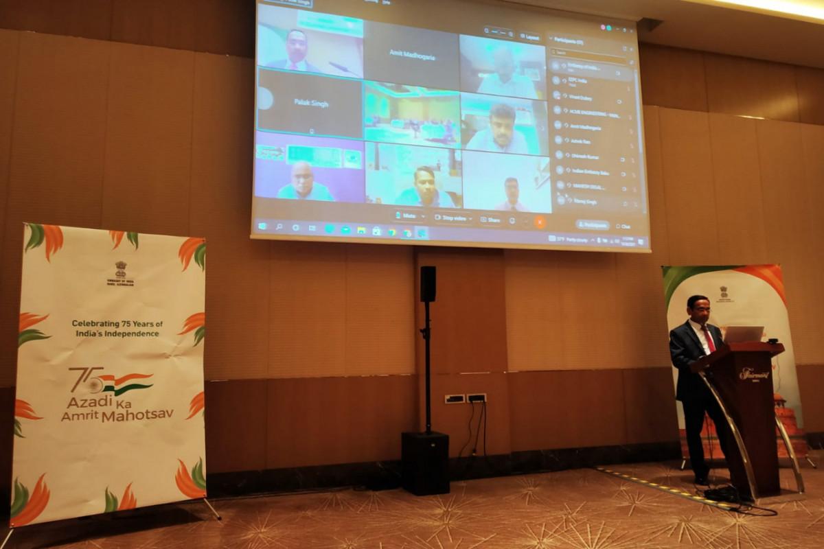 Indian Embassy in Baku organised webinar on engineering products
