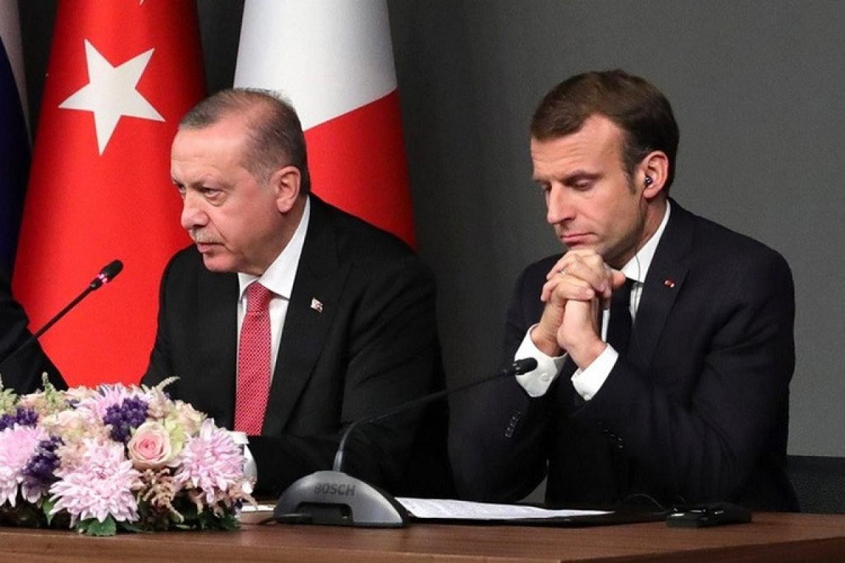 Recep Tayyip Erdogan,   Emmanuel Macron,