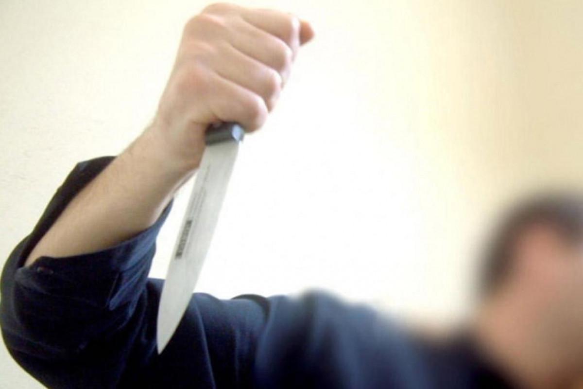 Gəncə sakini bıçaqlanıb