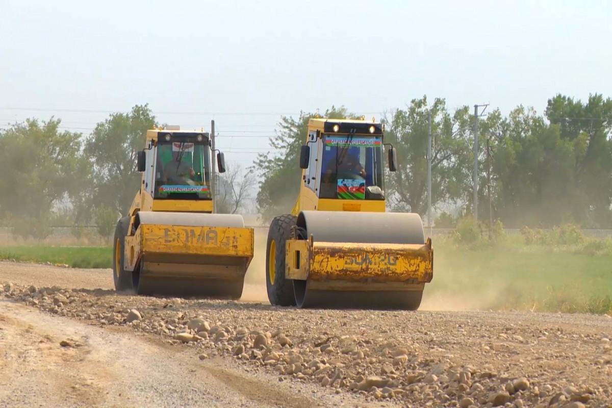 Goranboyda 6 yaşayış məntəqəsini birləşdirən avtomobil yolunun tikintisinə start verilib - FOTO