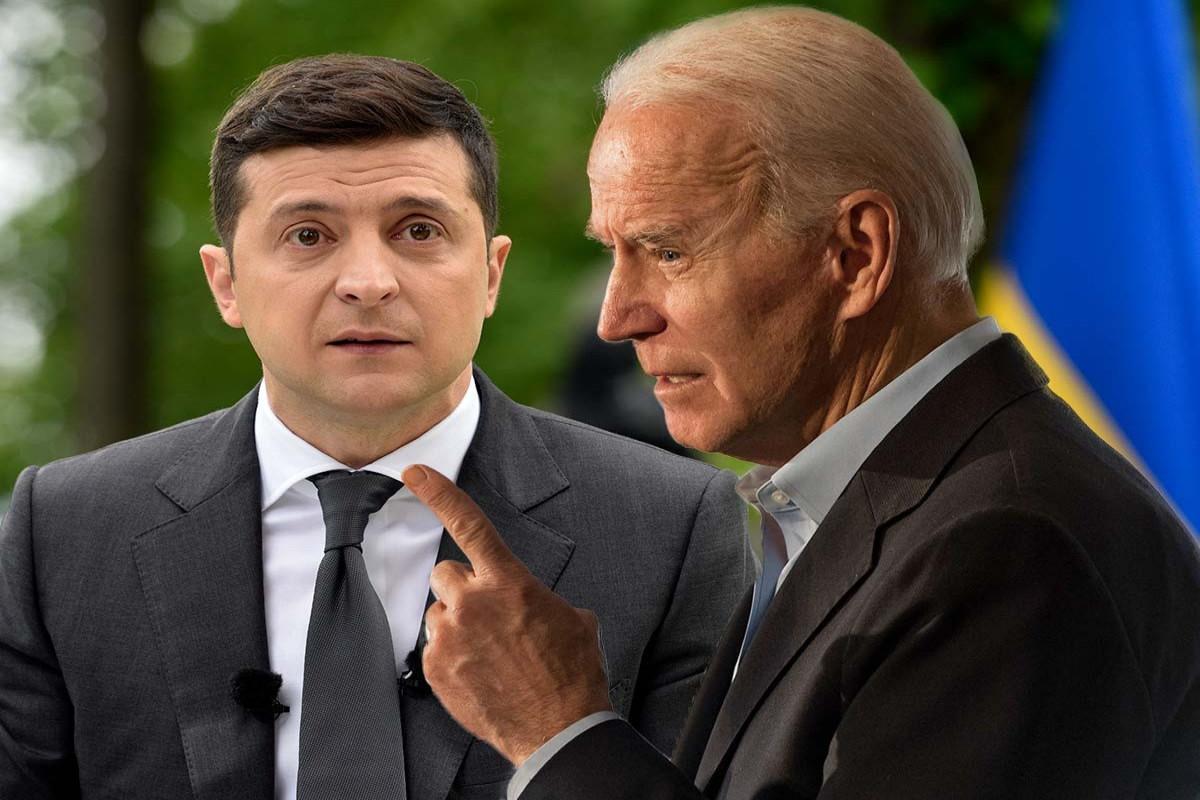 Президенты США и Украины Джо Байден и Владимир Зеленский