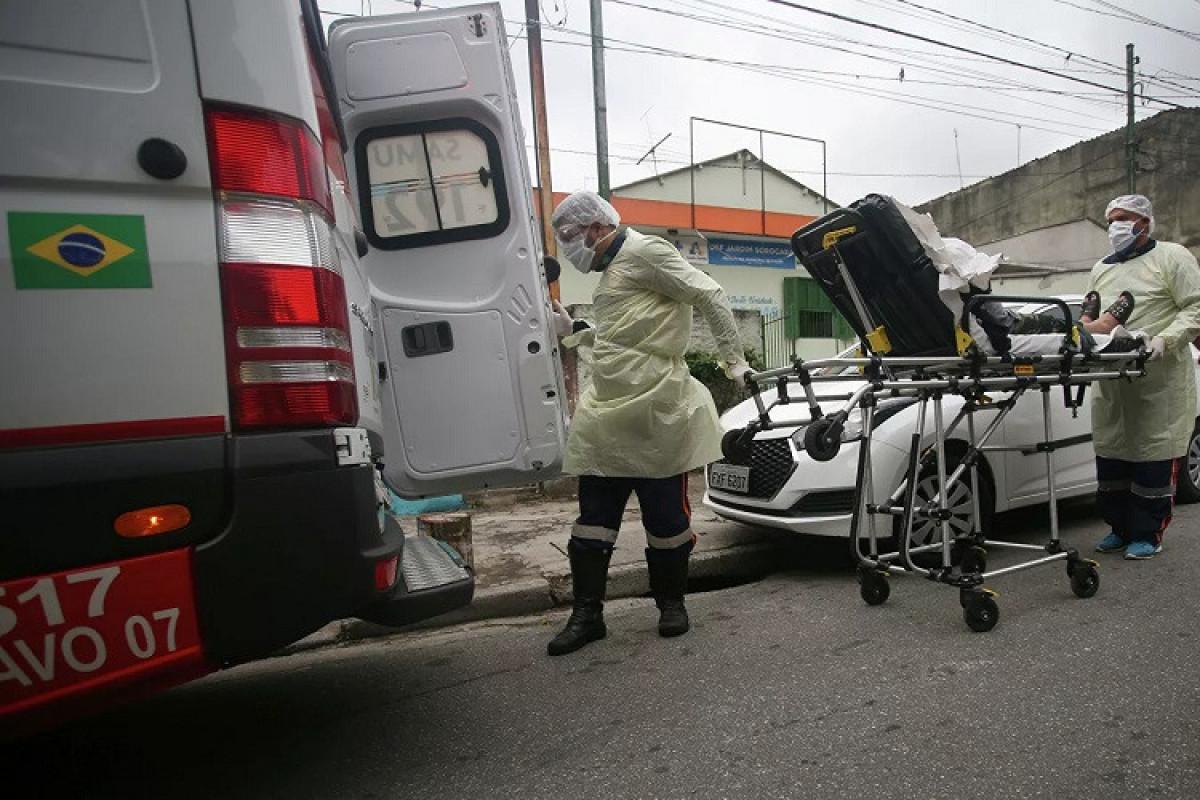 Braziliyada son bir gündə 764 nəfər koronavirusdan ölüb