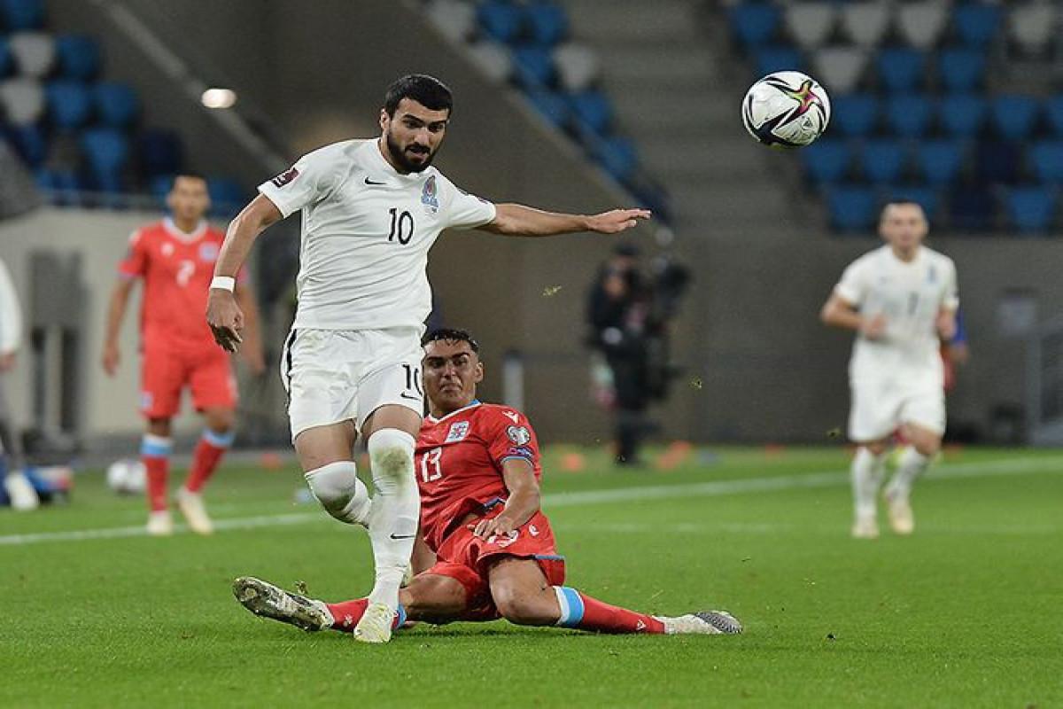 Сборная Азербайджана завоевала свое первое очко в отборе на ЧМ-2022