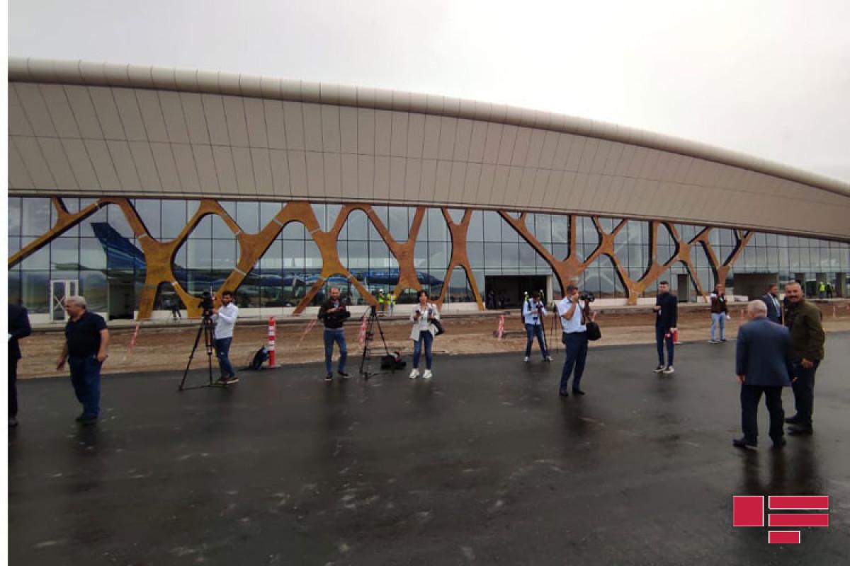 A test flight was carried out from Baku to Fuzuli International Airport by a passenger plane-PHOTO