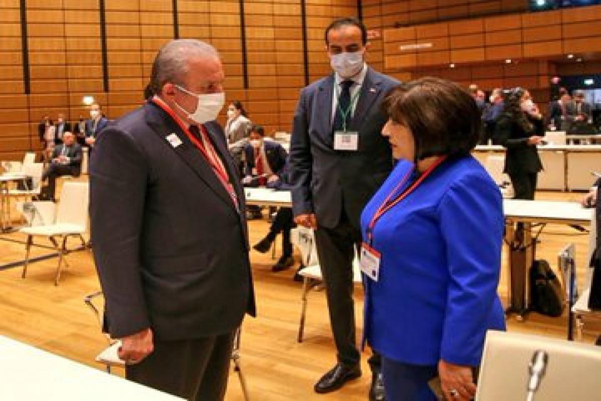 Mustafa Shentop meets with Sahiba Gafarova in Vienna