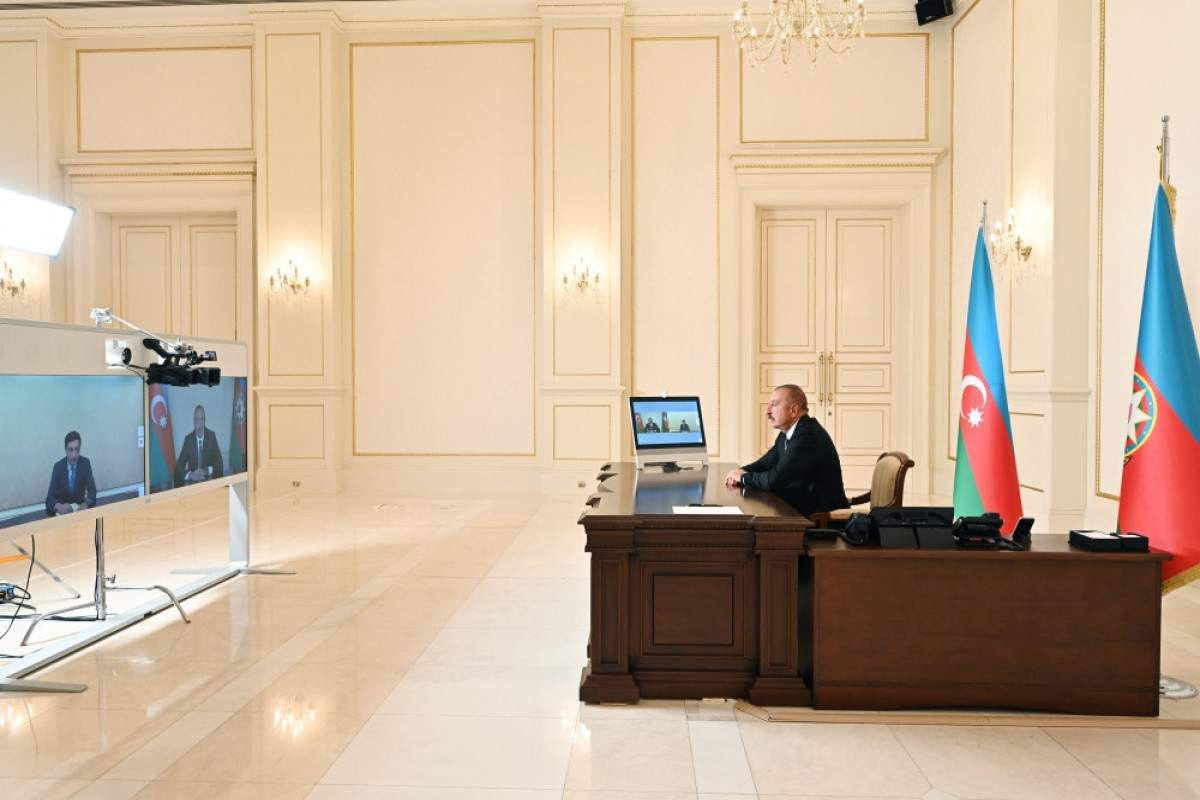 President Ilham Aliyev received in a video format Farid Gayibov on his appointment as Minister of Youth and Sports