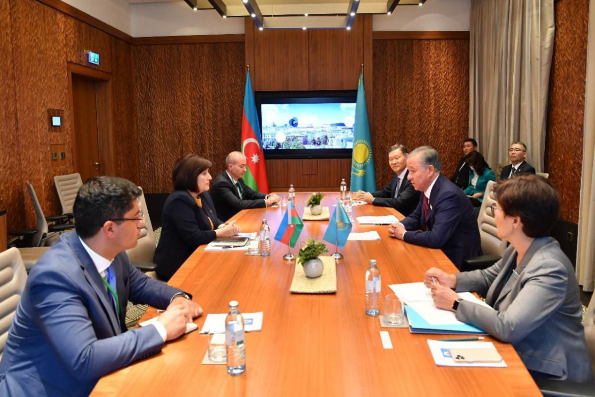 Milli Majlis Chair Sahiba Gafarova meets Chair of Mazhilis of Kazakh Parliament Nurlan Nigmatulin