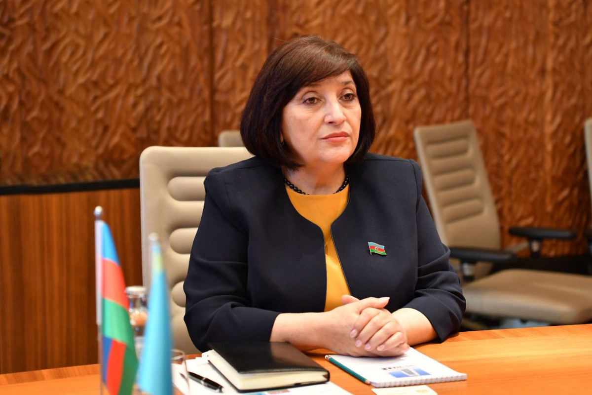 Председатель Милли Меджлис Сахиба Гафарова встретилась с председателем Мажлиса Парламента Казахстана Нурланом Нигматулиным