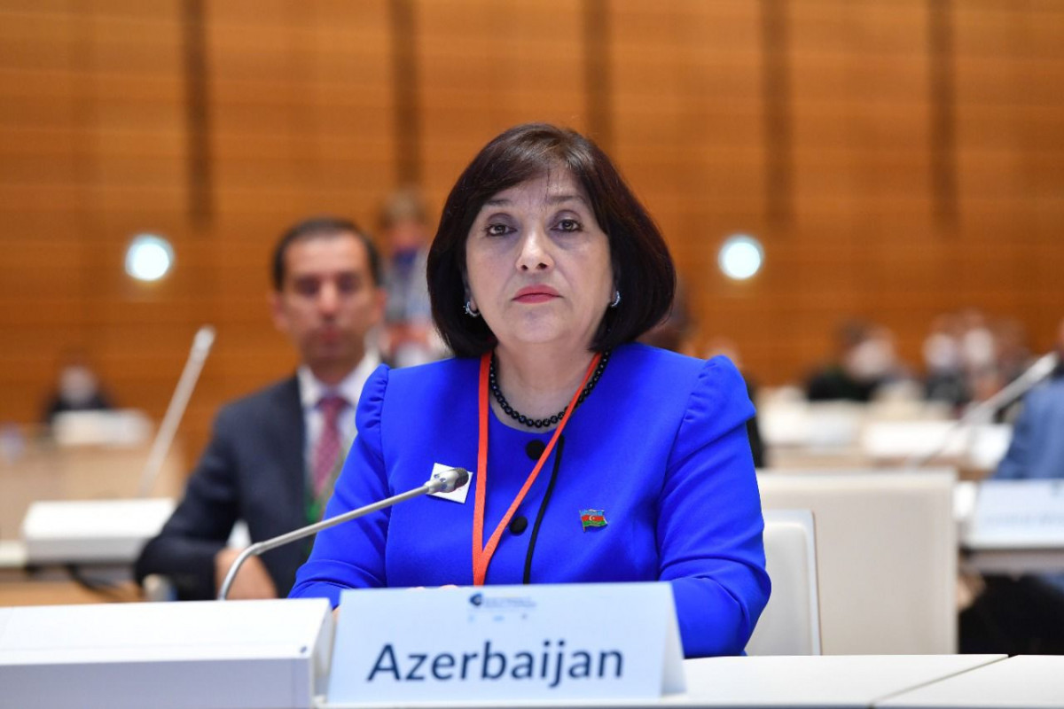 Chair of the Milli Majlis Sahiba Gafarova