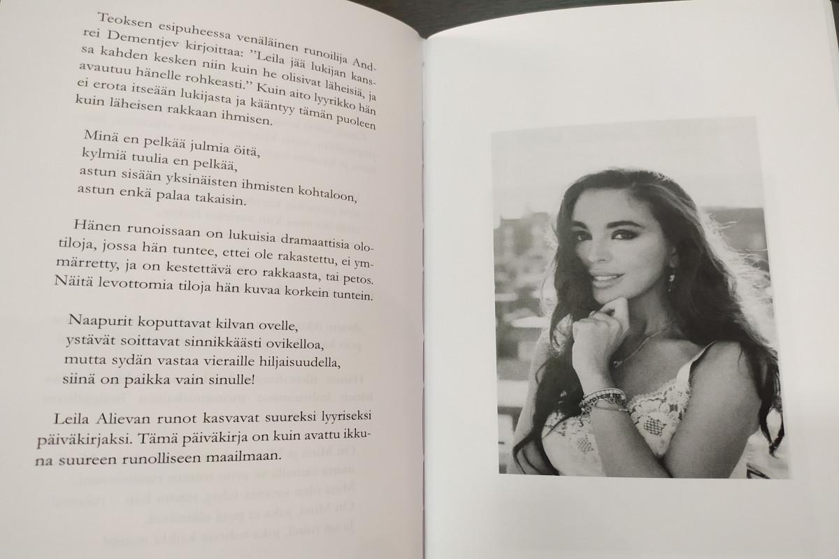 "Leyla Aliyeva's ""Open window"" was published in Finnish"
