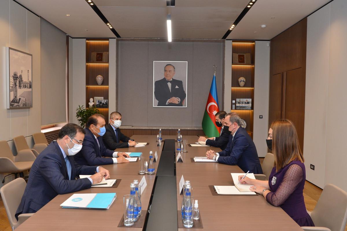 Джейхун Байрамов принял делегацию во главе с генсеком Тюрского совета Багдадом Амреевым