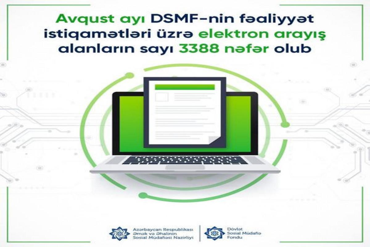 DSMF: Avqustda elektron arayış alanların sayı 3 388 nəfər olub