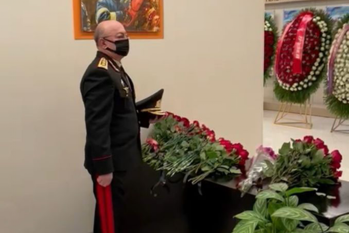 Kamaladdin Heydarov attends farewell ceremony for Russia's Minister of Emergency Situations