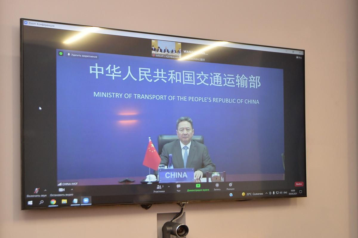 Встреча министров транспорта Китая и Азербайджана