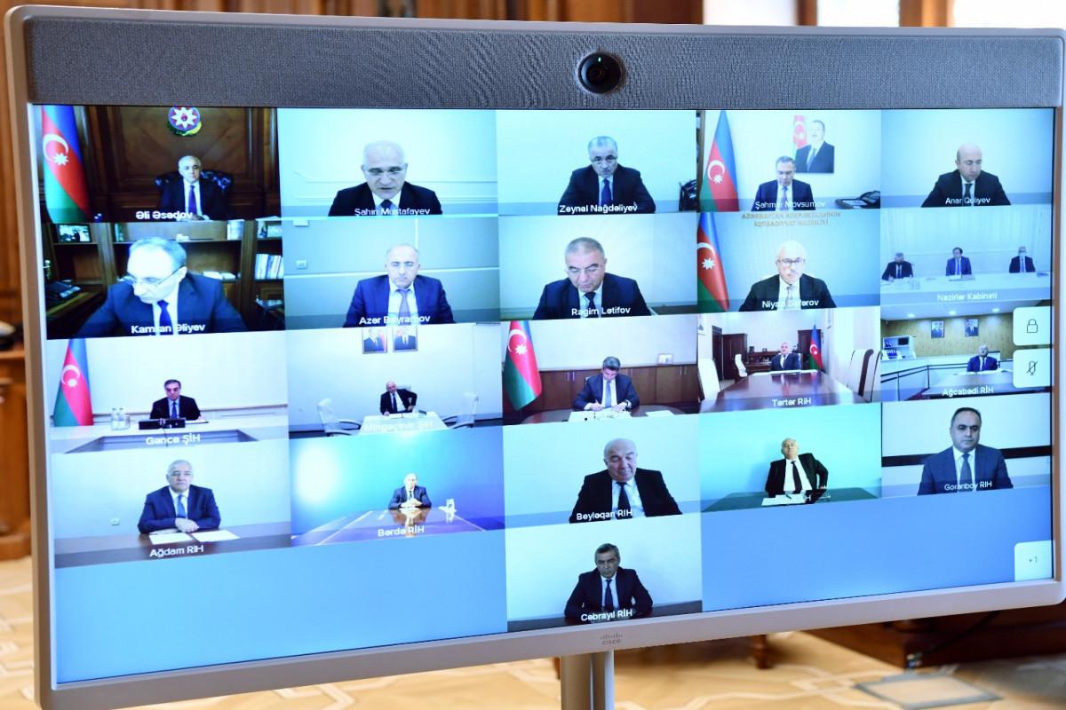 Ermənistanın təcavüzü nəticəsində dəyən ziyanın qiymətləndirilməsi üzrə Dövlət Komissiyasının iclası keçirilib