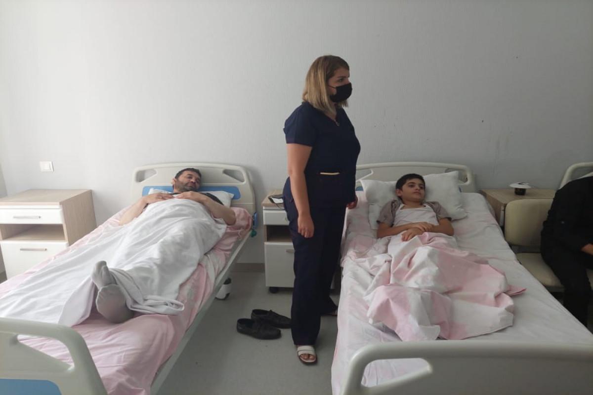 Six people injured as a minibus overturned in Azerbaijan's Shamkir