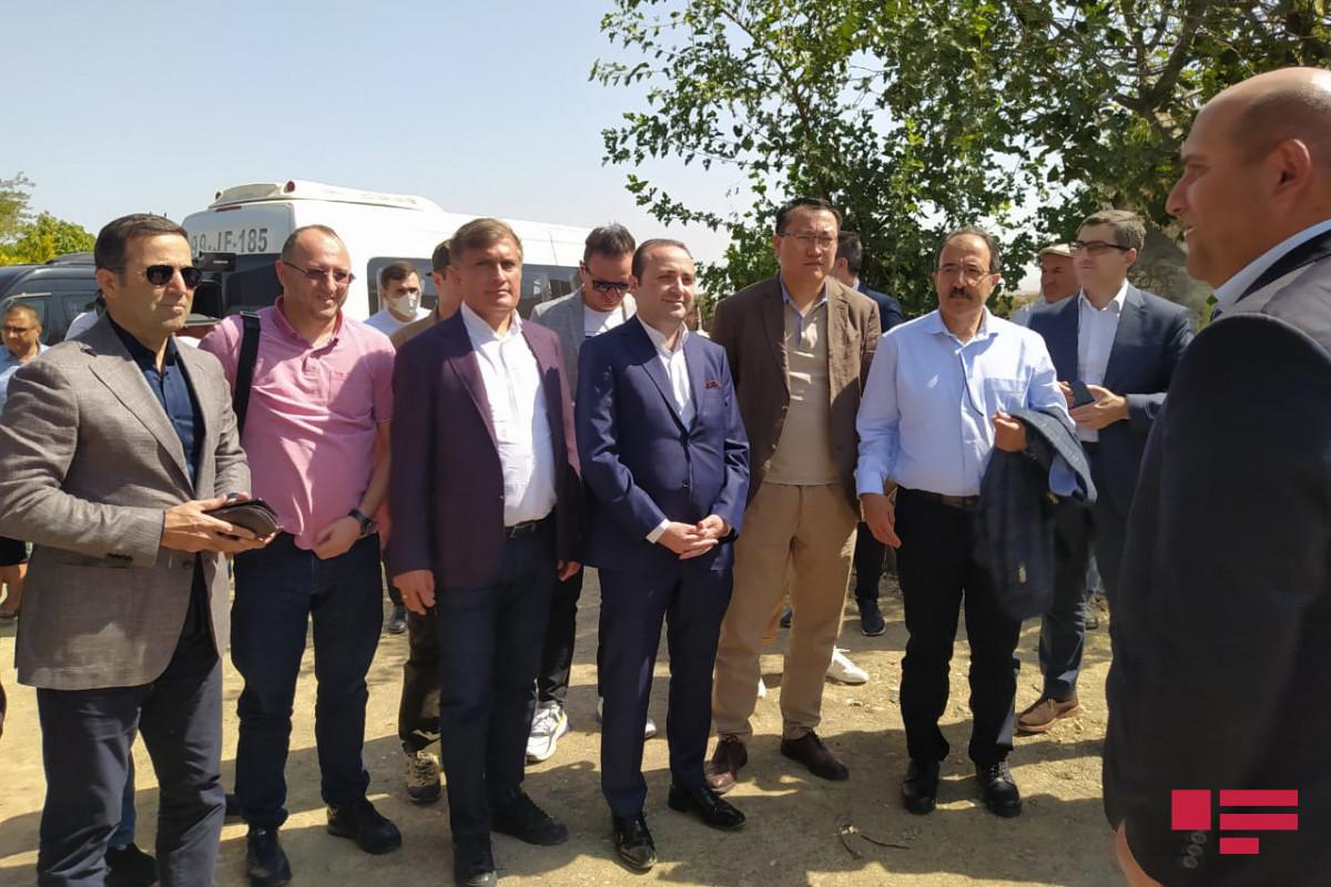 Türkdilli Dövlətlərin Əməkdaşlıq Şurasının nümayəndələri İmarət kompleksini ziyarət ediblər - FOTO