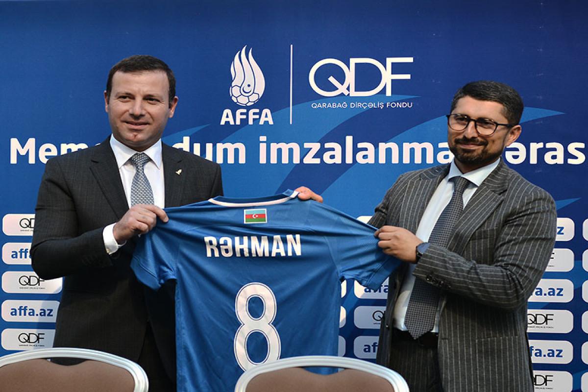 AFFA və Qarabağ Dirçəliş Fondu arasında Memorandum imzalanıb