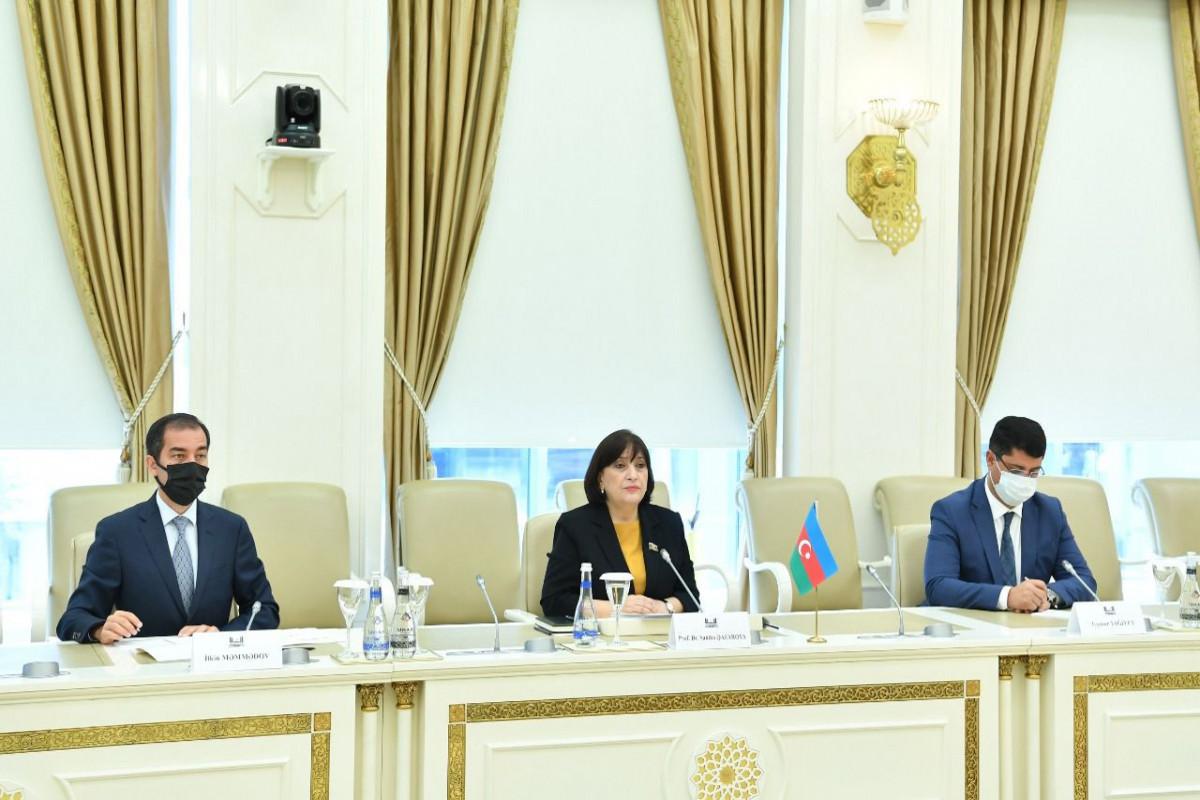 Milli Majlis Chair Sahiba Gafarova met with delegation of Kazakhstan Parliament