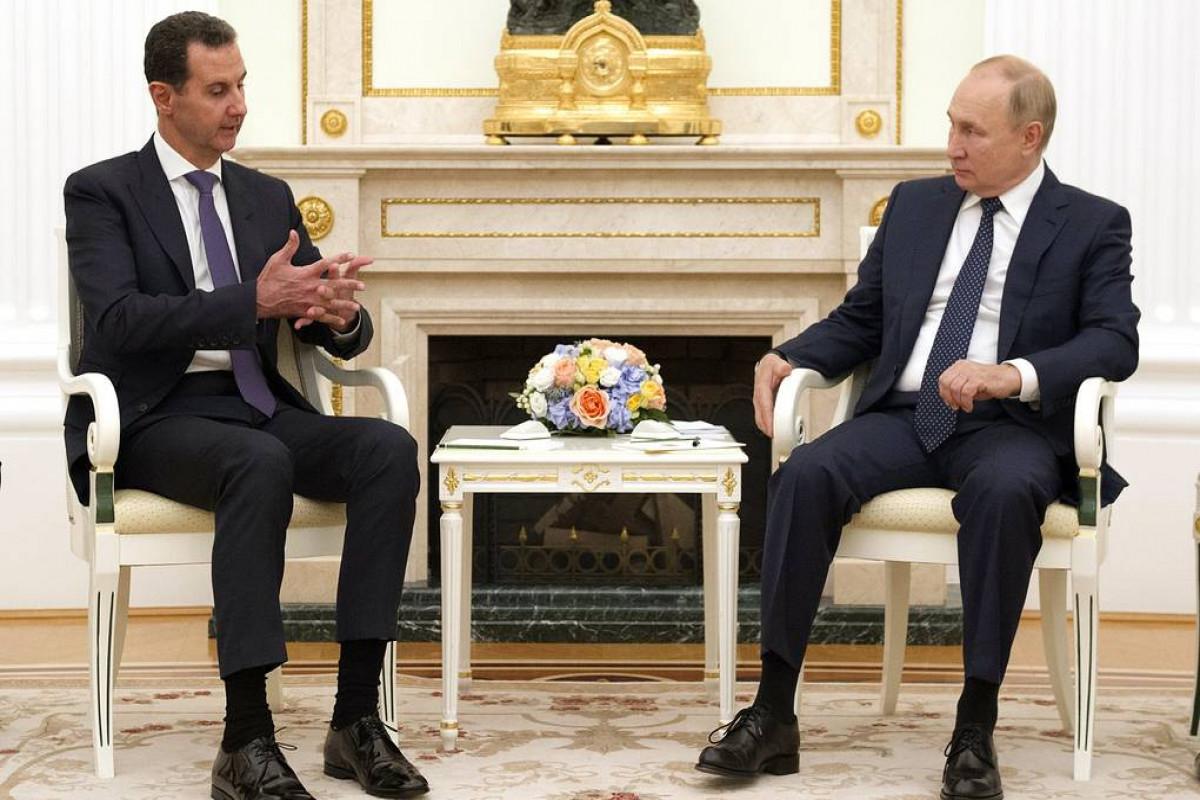 Башар Асад, Владимир Путин