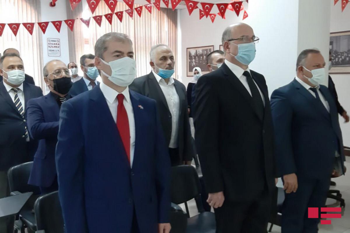 Türkiyənin Gəncədəki Baş Konsulluğunda Bakının işğaldan azad olunmasnın 103-cü ildönümü qeyd edilib - FOTO