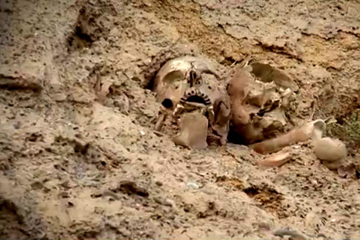 """Bakıda """"Qanlı göl"""" ətrafında insan sümükləri tapılıb - FOTO  - VİDEO"""