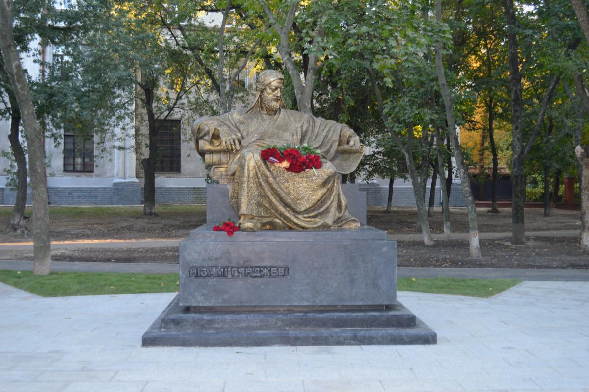 Monument of Nizami Ganjavi  erected in Kharkov