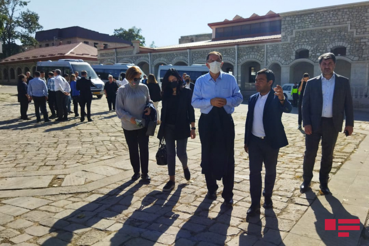 """Delegation of OIC Association of Ombudsmen views """"Shot statues"""" in Shusha and Natavan's house"""
